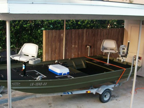 Pressure treated plywood jon boat trailer
